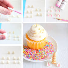 How To Be A Unicorn For Halloween by Unicorn Horn Fondant Toppers Unicorn Cupcake Toppers The Bakers