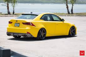lexus lfa wheels specs lfa yellow lexus is 350 sits on vossen wheels autoevolution