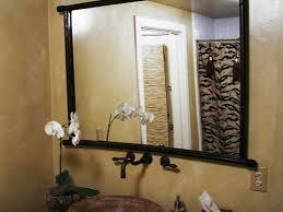 bathroom wall framed mirror for bathroom in grey and bright wall