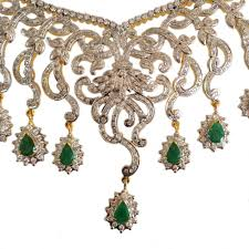 emerald gemstone necklace images Chick style traditional bridal emerald necklace gleam jewels jpg
