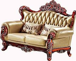 Wooden Frame Sofa Set Ma Xiaoying Solid Wood Frame Carved By Hands Leather And Luxury