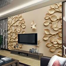 wallpaper designs for home interiors 12 3d wallpaper for tv wall units that will a statement