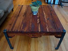 Wood Table With Metal Legs Trend Only Metal Leg Coffee Table Update Recycling Pallet Catching