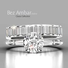 and baguette contour wedding band in platinum a classic bez ambar engagement ring with tapered baguettes with a