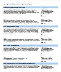 construction project progress report template free construction