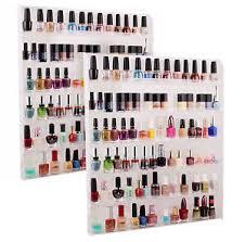 lot 2 large acrylic shelf nail polish organizer display wall mount