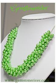 chunky necklace designs images Green chunky bold statement pearl cluster necklace earringsset jpg