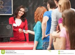 buying the movie tickets stock photo image of expressing 32590012