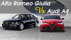 audi a4 comparison 2017 alfa romeo giulia vs 2016 audi a4 comparison