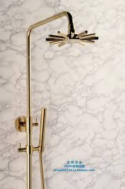 all gold plated copper shower spray shower set three gears shower