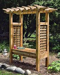 bench arbor bench garden arbor by all things cedar pergola