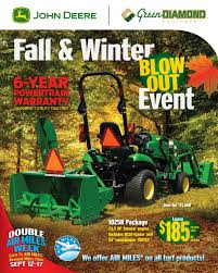 green diamond john deere fall and winter flyer by green diamond