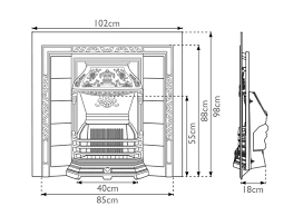 Fireplace Insert Dimensions by Laurel Cast Iron Fireplace Inserts Carron
