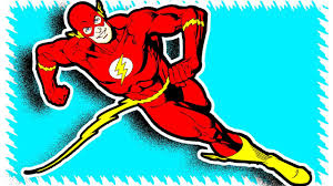 flash from justice league superheroes coloring pages youtube
