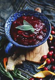 unique thanksgiving recipes rosemary citrus cranberry sauce