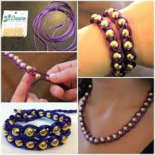 beads bracelet easy images Diy denim and beads bracelet how to make beaded bracelets deaft jpg