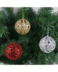 deals on 6pcs tree balls bauble hanging home
