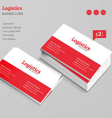 logistics business card template free premium templates