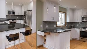 how to install peninsula kitchen cabinets sassy in naperville river oak cabinetry design