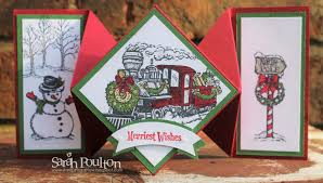 stampin u0027 sarah a christmas magic diamond fold christmas card