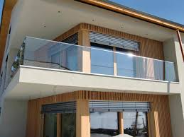 glass railing stainless steel steel with bars inoxplus
