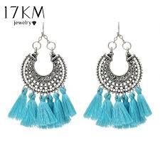 chandelier earrings 17km tibetan hollow out fringed chandelier earrings for women
