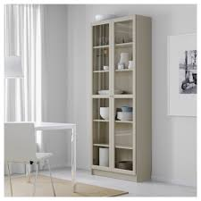 Billy Bookcases With Doors Billy Bookcase With Glass Doors Beige 80x30x202 Cm Ikea