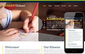 primary a educational category flat responsive web template