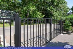 eastern ornamental aluminum eo4200 bk is a 48 inch high three rail