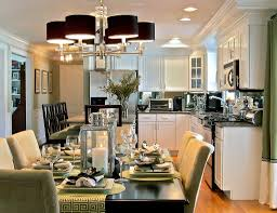applying some interior design for open kitchen with dining room