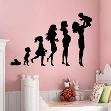 Design Wall Stickers Wall Decals Pregnancy Mother With Her Baby Home Interior Design