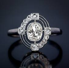 deco engagement ring an deco and platinum vintage engagement ring the