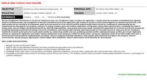 qms consultant cover letter u0026 resume
