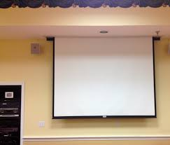 Media Room Tv Vs Projector - drop down screen for tv projector living room fam room ideas