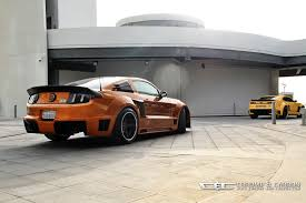transformers ford mustang ford mustang gt with tornado bodykit is suitable for the transformers