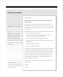 sample administrative assistant cover letter 7 examples in word
