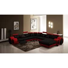 canapé d angle cuir noir canapé d angle panoramique cuir noir et relax lory achat