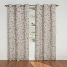 eclipse meridian blackout linen curtain panel 84 in length