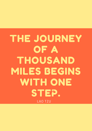 inspirational quote journey 100 quote journey begins with one step one life can make a