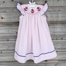 smocked anchor dress white u0026 red polka dot smocked auctions