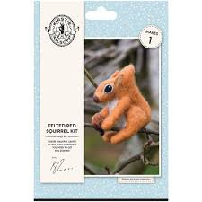 kirstie allsopp felted red squirrel kit hobbycraft