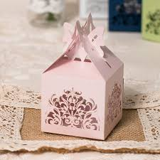 butterfly favor boxes pink laser cut butterfly wedding favor box ewfb108 as low as 0 93