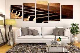 5 piece large canvas panoramic artwork music canvas art prints