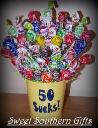 lollipop bouquet 50 blows lollipop bouquet milestone birthday gift s