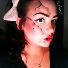 cracked porcelain doll halloween makeup sfx makeup portfolio