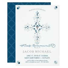 communion invitations for boys holy communion invitation boy s invite card zazzle