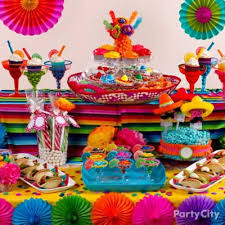 mexican party dessert sombrero display idea mexican fiesta