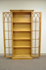 furniture home mission bookcase with glass doors antique