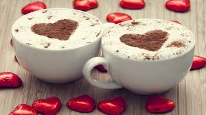 simplywallpapers com cappuccino cups hearts desktop bakcgrounds