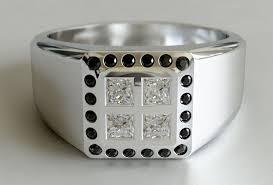 mens wedding rings nz mens princess cut and black diamond ring new zealand